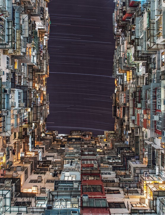 PEOPLE & SPACE  City Lights - Wing Ka Ho (Hong Kong)  Photo location: Quarry Bay, Hong Kong  Equipment: Canon EOS 6D DSLR camera, 24mm lens.