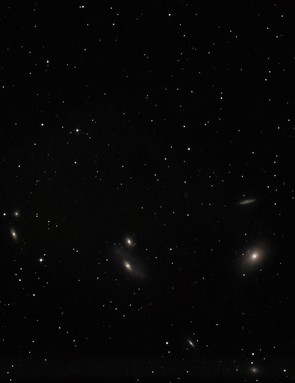 Markarian's Chain Andrew Hardy, Cambridgeshire, 25 March 2019 Equipment: Canon EOS 77D DSLR camera, Sky-Watcher 150P-DS Newtonian, Celestron Advanced VX mount.