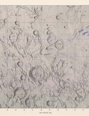 Signed map of Apollo 11 landing site This 'internal use only' map, published in 1969 depicts the Apollo 11 landing site in the Sea of Tranquillity and is signed by astronaut Buzz Aldrin Lunar Module Pilot Apollo 11.