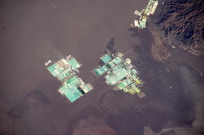 Sometimes Tim comes across a sight with no idea what he's looking at, such as this strange collection of buildings in San Pedro de Atacama. After a plea on social media, it was revealed they were evaporation ponds used to extract minerals such as lithium and potassium from salar brines.
