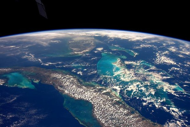 One of Tim's favourite views is the coastline of Florida, Cuba and the Bahamas.