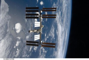 November 2008: a third set of solar wings have been installed on the space station (Credit: NASA)