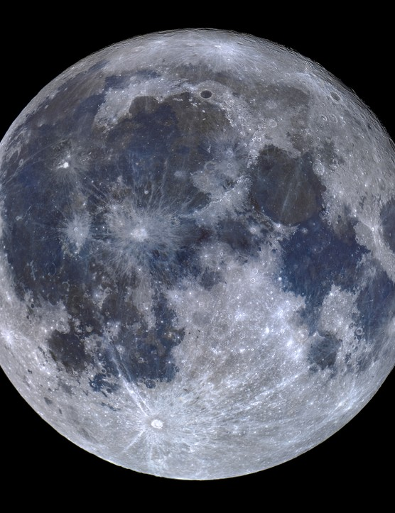"A Titanium Moon, Miguel Claro, Dark Sky® Observatory, Alqueva, Portugal, 25 October 2018. Equipment: Celestron 14"" EdgeHD 355 mm Schmidt-Cassegrain, Celestron CGEM mount, Nikon D810A camera."