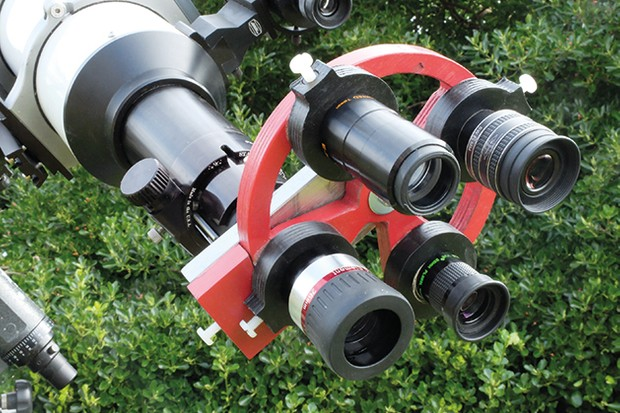 Our rotating turret can hold up to four of your favourite eyepieces. Credit: Mark Parrish
