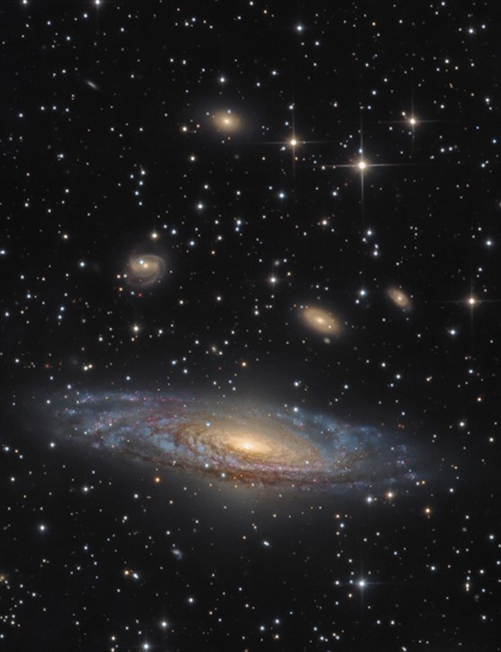 NGC 7331 - The Deer Lick Group © Bernard Miller