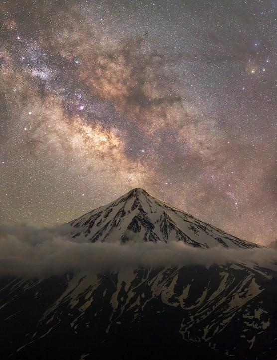 Embrace of the mountains, heart of the universe!, Majid Ghohroodi, Nandal, Mazandaran Province, Iran, 8 June 2018. Equipment: Canon EOS 6D camera, 59 mm f/2.8 lens.