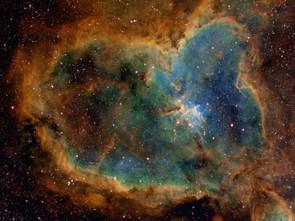 Heart Nebula In Hubble Palette © Bob Franke