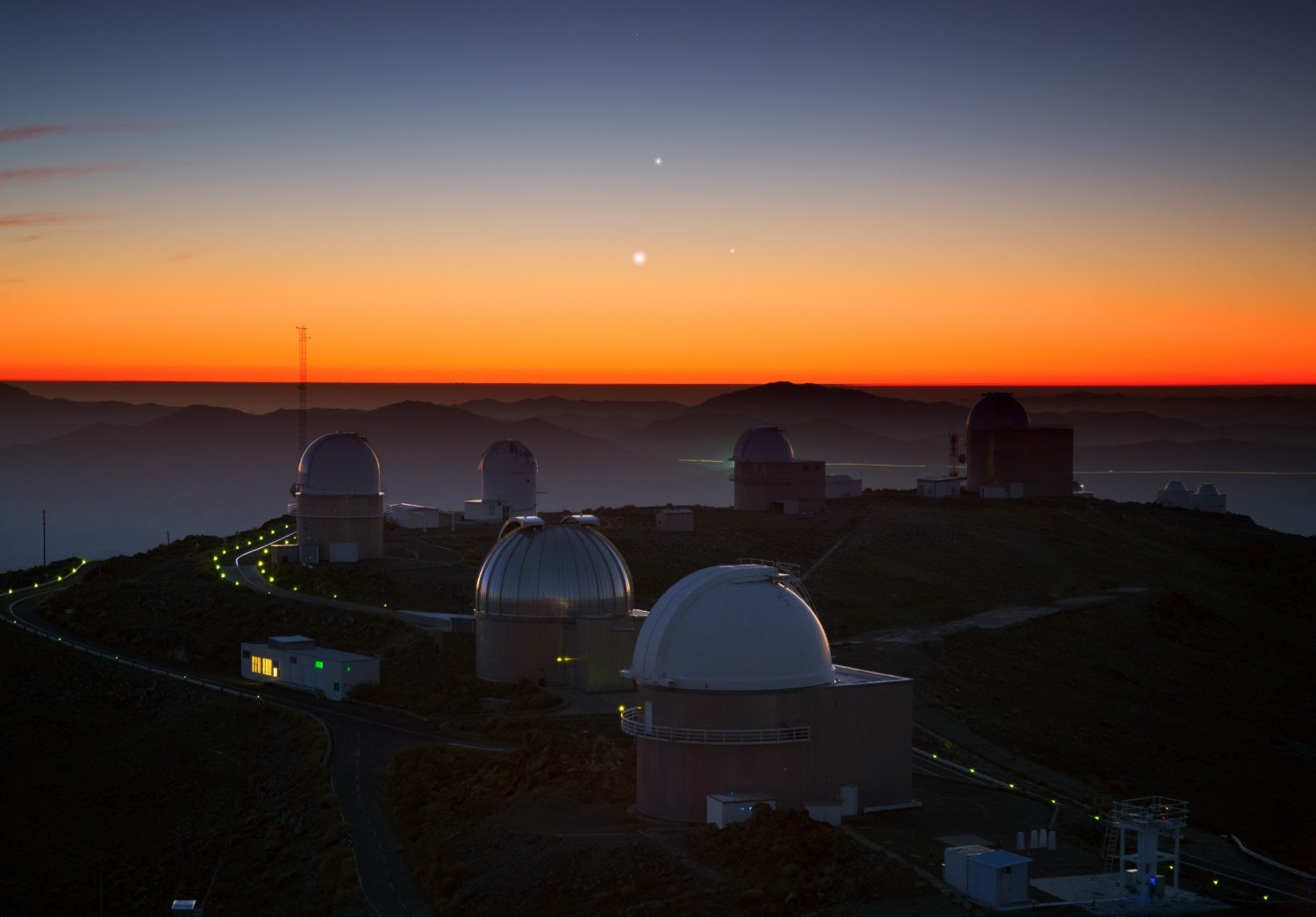 The total solar eclipse will be viewable from ESO's La Silla observatory in the Chilean Credit: Y. Beletsky (LCO)/ESO