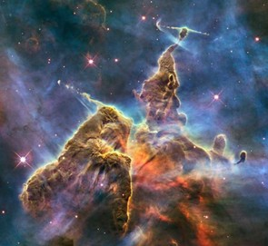 Taken for the telescopes 20th Anniversary, this image shows gas and dust rising to the top of a three lightyear tall pillar of cool hydrogen. Credit: NASA/ESA/M. Livio/Hubble 20th Anniversary Team (STScI)