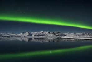 Northern Lights over Jokulsarlon, Iceland © Giles Rocholl
