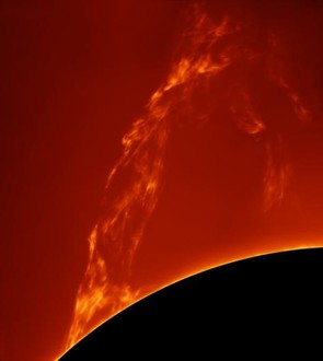 Huge Prominence Lift-off - Paolo Porcellana (Italy) - Winner: Our Sun