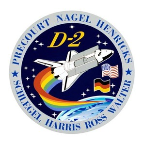 In the STS-55 patch the rainbow symbolised the hope for a brighter tomorrow.