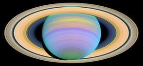 By taking images in different wavelengths, Hubble has given researchers a new perspective of familiar sights such as this picture of Saturn taken in the ultraviolet. Credit: NASA/ESA