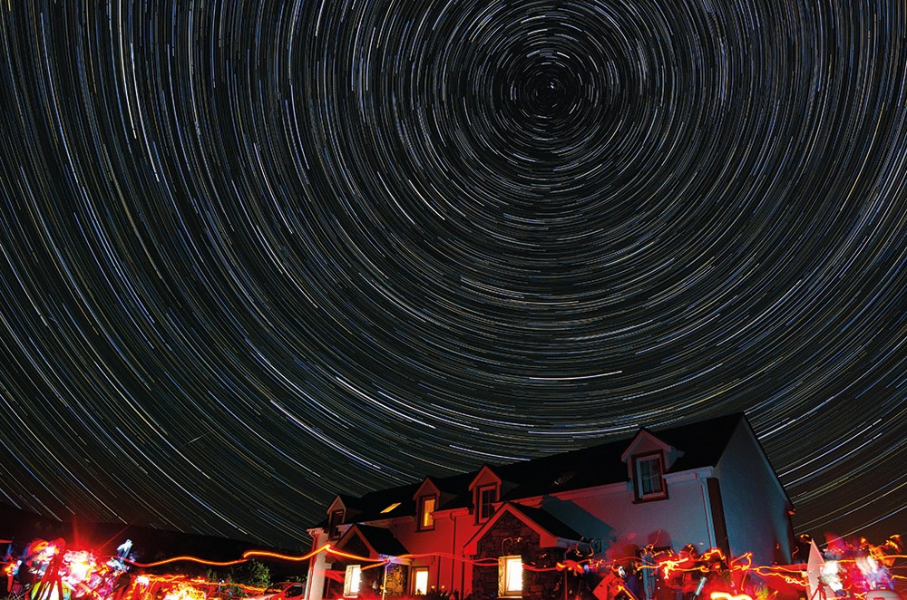 Kevin Smith captured this wonderful star trails image at Skellig Star Party in County Kerry, Ireland. Credit: Kevin Smith