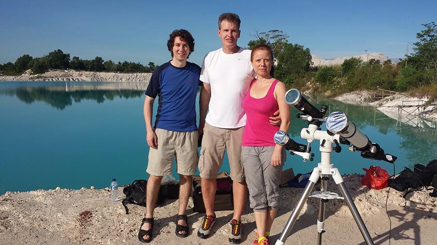 Eclipse chasers Daniel Lynch, Jörg Schoppmeyer, Nicola HollenbeckCredit: Daniel Lynch