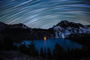 Star Trails over Green Lake - Dan Barr (USA) - Shortlisted