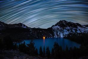 Star Trails over Green Lake - Dan Barr (USA) - Shortlisted