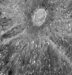 This image of the Tycho crater was taken in preparation of observing the Venus transit in 2012. Hubble cannot be pointed directly at the Sun, and so instead the telescope observed the change in light reflected off the Moon. Credit: NASA/ESA