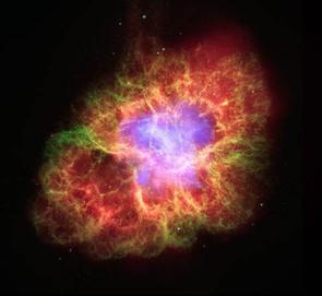 Crab Nebula: X-Ray: NASA/CXC/J.Hester (ASU); Optical: NASA/ESA/J.Hester & A.Loll (ASU); Infrared: NASA/JPL-Caltech/R.Gehrz (Univ. Minn.)