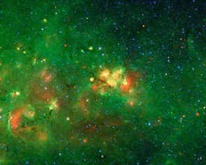 The Milky Way's Galactic Plane: NASA/JPL-Caltech/Univ. of Wisconsin