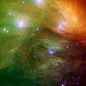 Pleiades Cluster (M45): NASA/JPL-Caltech/J.Stauffer