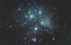 Young Astronomy Photographer of the Year winner. Pleiades cluster: Jacob von Chorus.