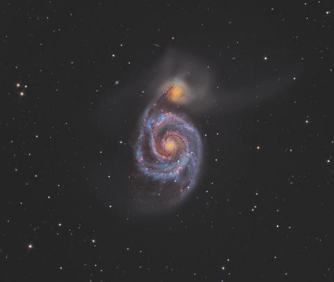 Overall winner and Deep Space winner. M51, the Whirlpool Galaxy: Martin Pugh