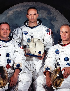 Apollo 11 astronauts (L-R) Neil Armstrong, Michael Collins and Buzz Aldrin