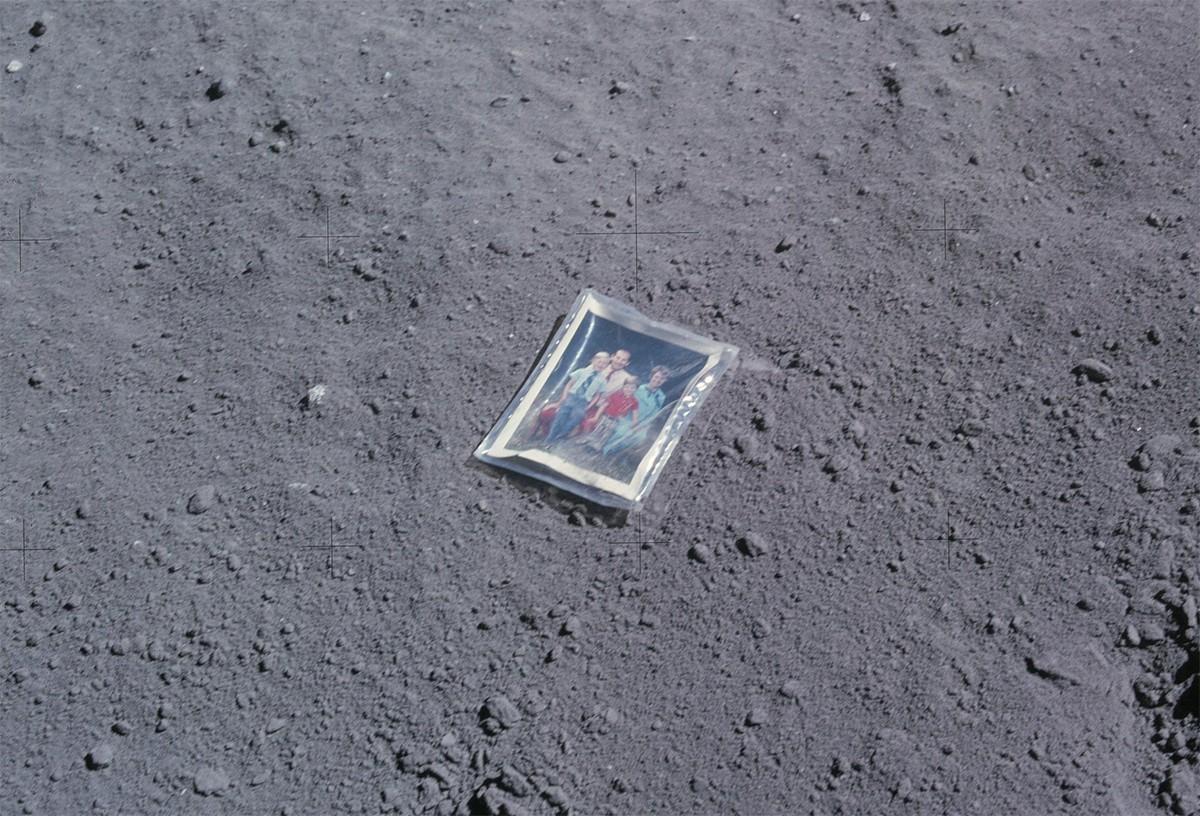 Charlie Duke left a photograph of his family behind. Credit: NASA