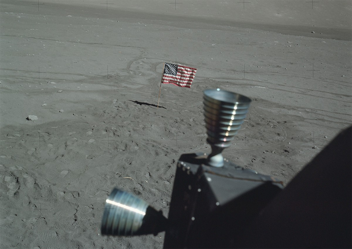 One of the last shots of the Apollo 17 landing site. Credit: NASA