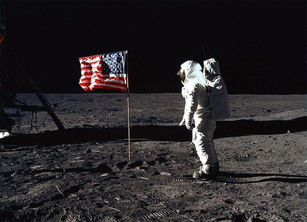 Buzz Aldrin stands on the surface of the Moon during the Apollo 11 mission. Credit: NASA