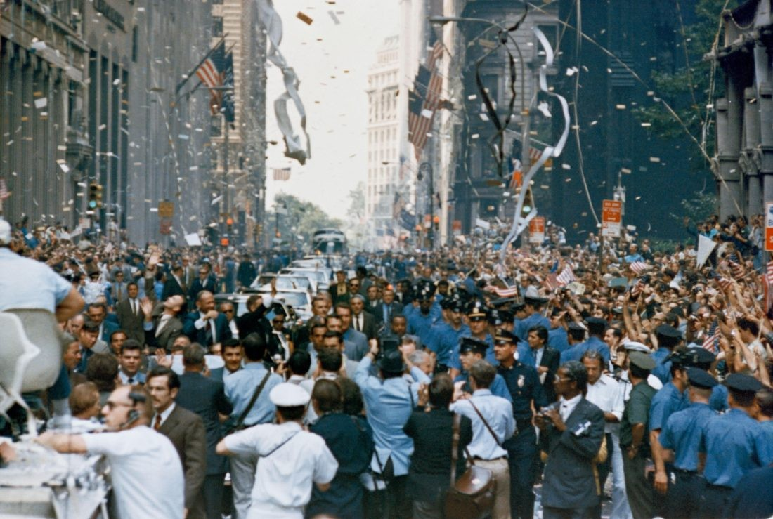 Well-wishers line the streets of New York City to welcome home the crew of Apollo 11. Credit: NASA