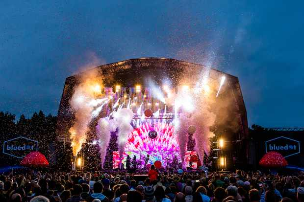 The Bluedot Festival takes place every year at Jodrell Bank in Cheshire. Credit: Anthony Harvey