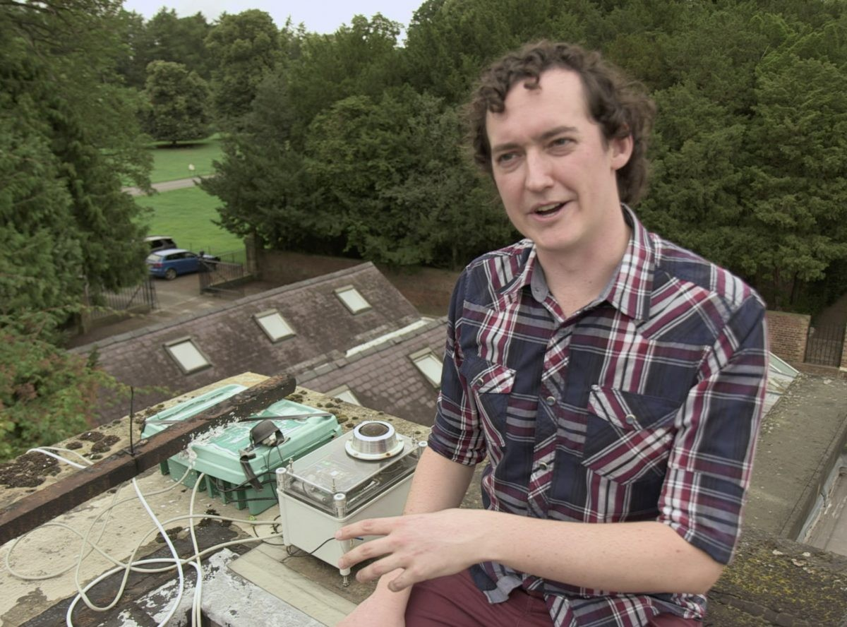 Dr Luke Daly appeared in a September 2018 episode of The Sky at Night showcasing an early UKFN camera. Credit: BBC