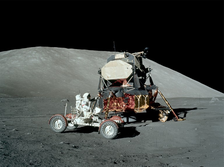 Where did the Apollo astronauts land on the Moon?