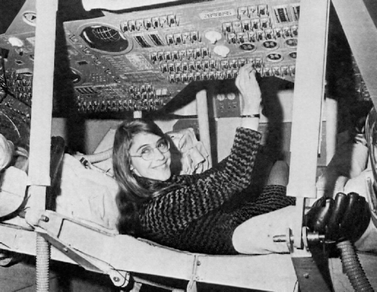Margaret Hamilton was one of the MIT software engineers who developed on-board flight software for NASA's Apollo Moon missions. Credit: NASA