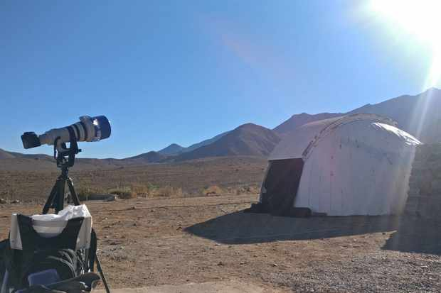 The viewing area at Mallamuca Observatory, ready for totality. Credit: Daniel Lynch