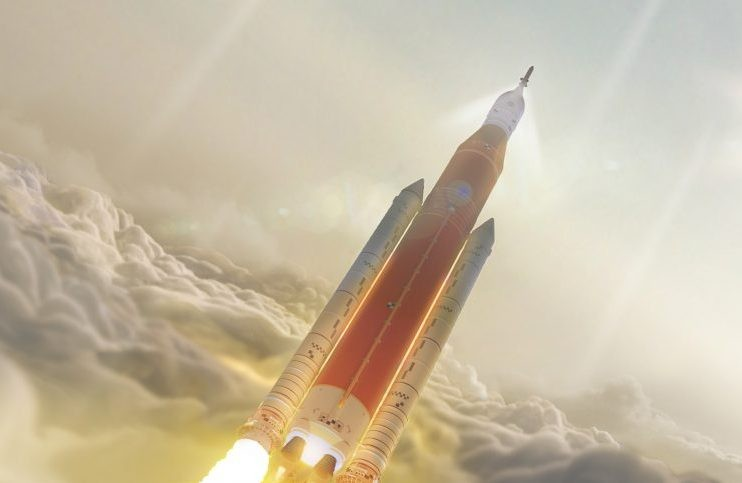 An artist's impression of NASA's Space Launch System, which may eventually take humans to Mars. Credit: NASA/MSFC