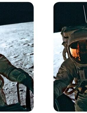Apollo 12 astronaut Pete Conrad of the surface of the Moon
