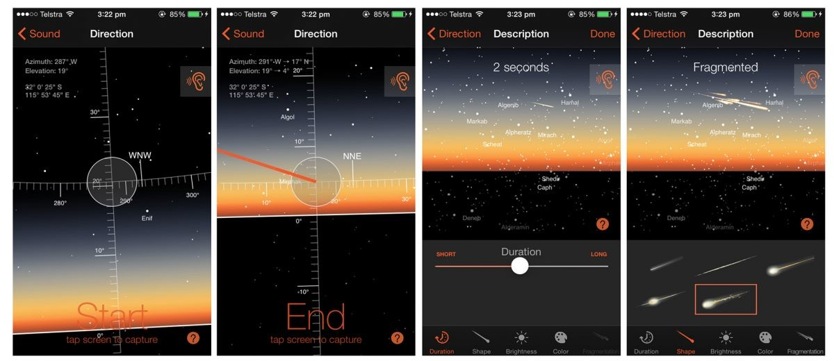 The Fireballs in the Sky app enables the public to get involved in the search for meteors in the sky.