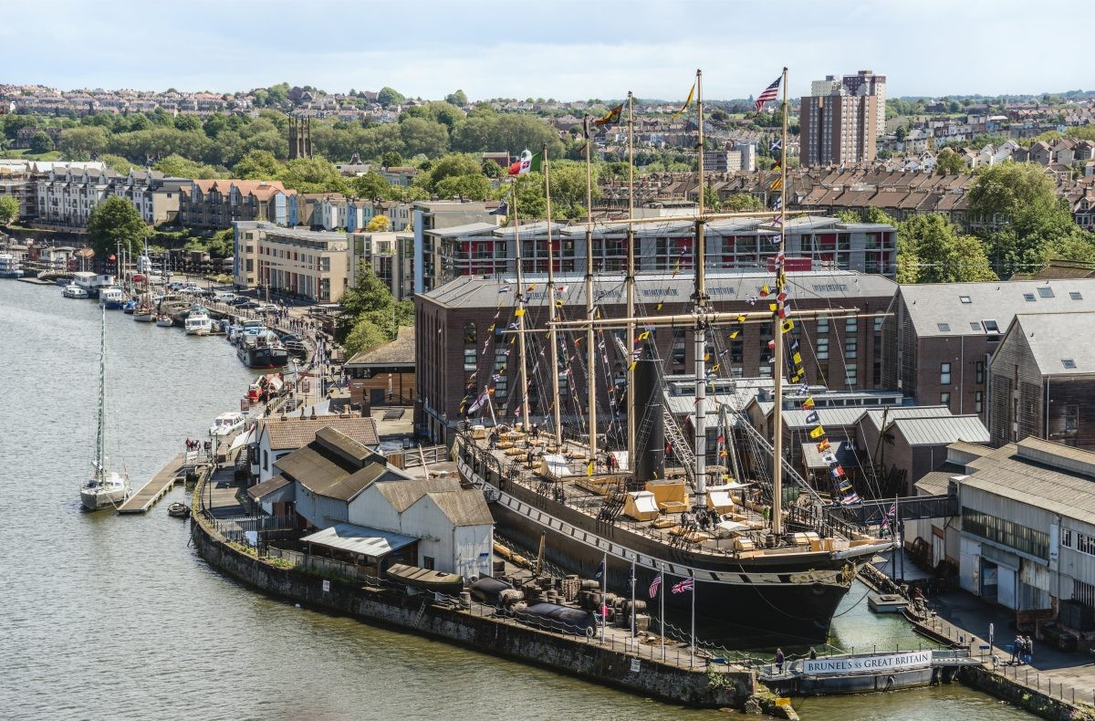 Brunel's SS Great Britain as it appears today: now a museum in Bristol's harbourside. Credit: Olaf Protze/LightRocket via Getty Images