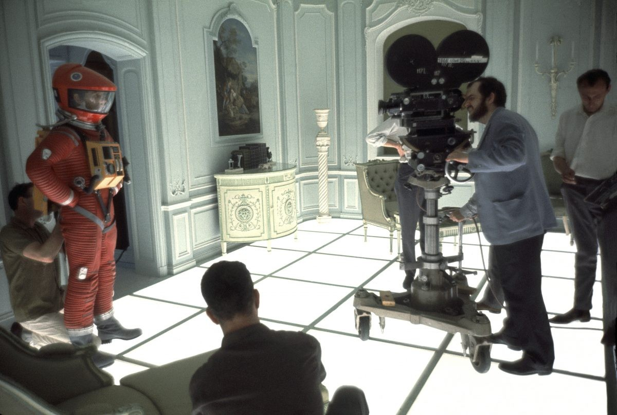 Stanley Kubrick on the set of 2001: A Space Odyssey. Kubrick's groundbreaking film has led some to believe he helped NASA fake the Moon landing. (Photo by Keith Hamshere/Getty Images)