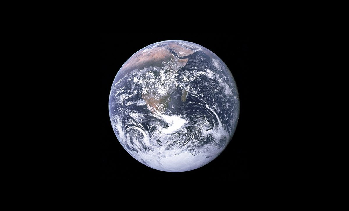 The famous 'Blue Marble' image of Earth captured during Apollo revealed our planet as a beautiful yet fragile planet for the first time. Credit: NASA