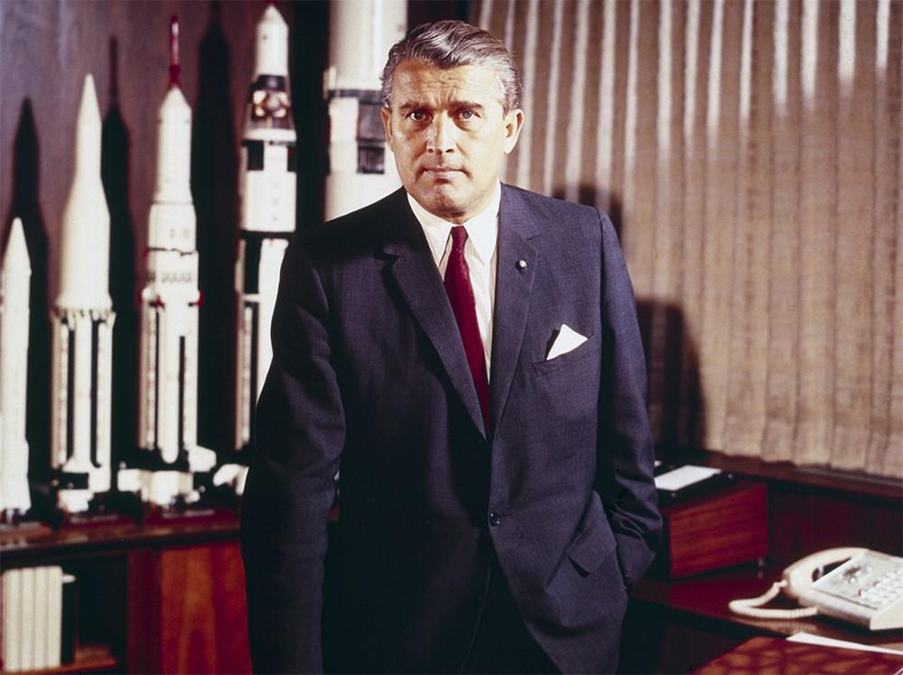 Wernher von Braun in his office at the Marshall Space Flight Center in 1964. Credit: Marshall Space Flight Center/NASA