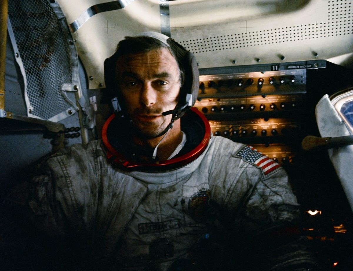 Apollo 17 mission commander Gene Cernan picture in the lunar module on the surface of the Moon. Cernan passed away in January 2017. He was the last of the Apollo astronauts to stand on the Moon. Credit: NASA