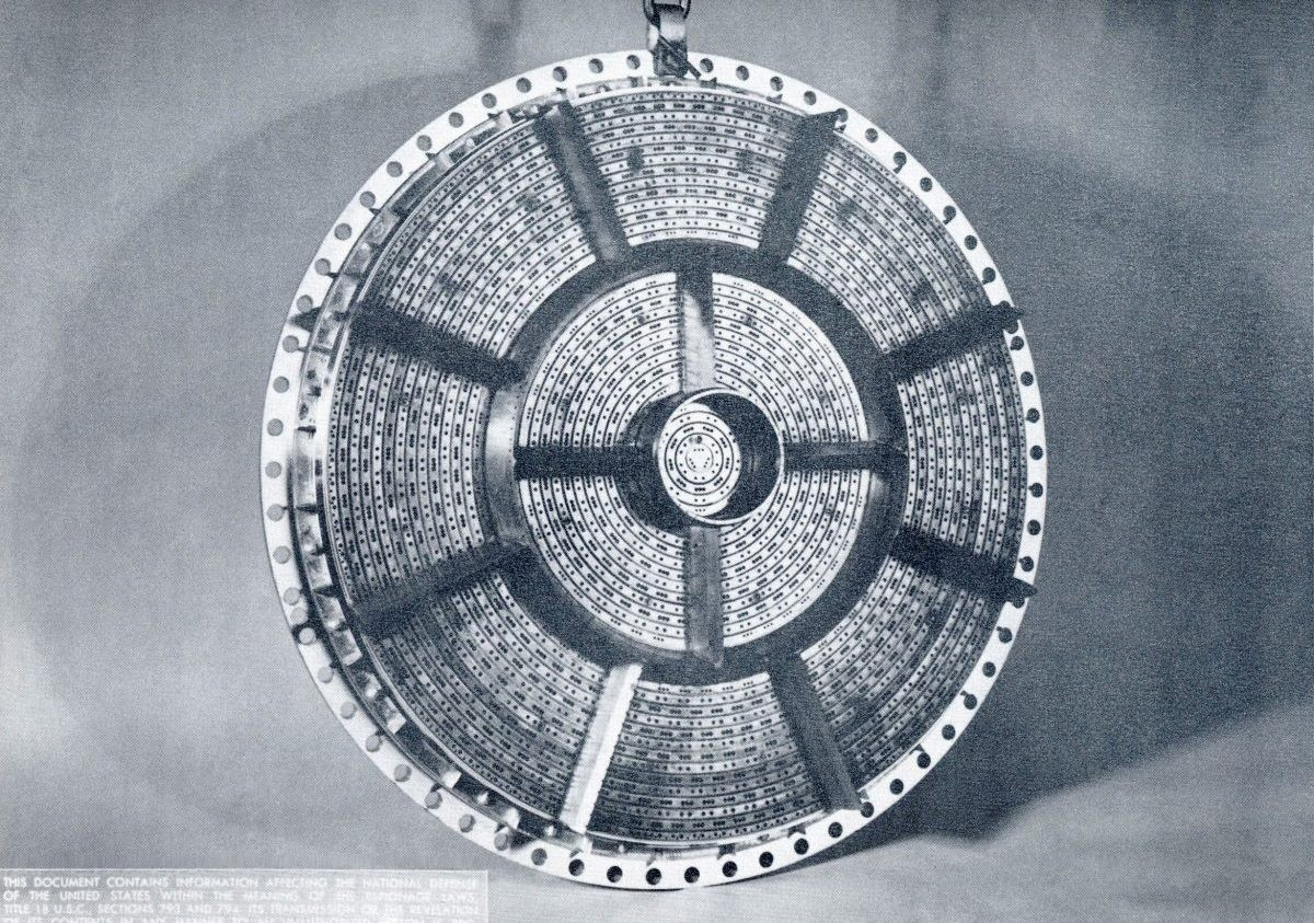 The injector plate helped harness the raw power of the Saturn V's F-1 engines. Credit: NASA