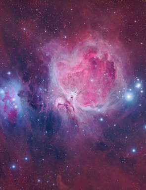 The Orion Nebula Alberto Ibanez, Barcelona, 27 – 30 December 2018 2 – 10 January 2019. Equipment: QHYCCD 163M camera, Borg 101ED f/4 refractor, Sky-Watcher HEQ5 mount.