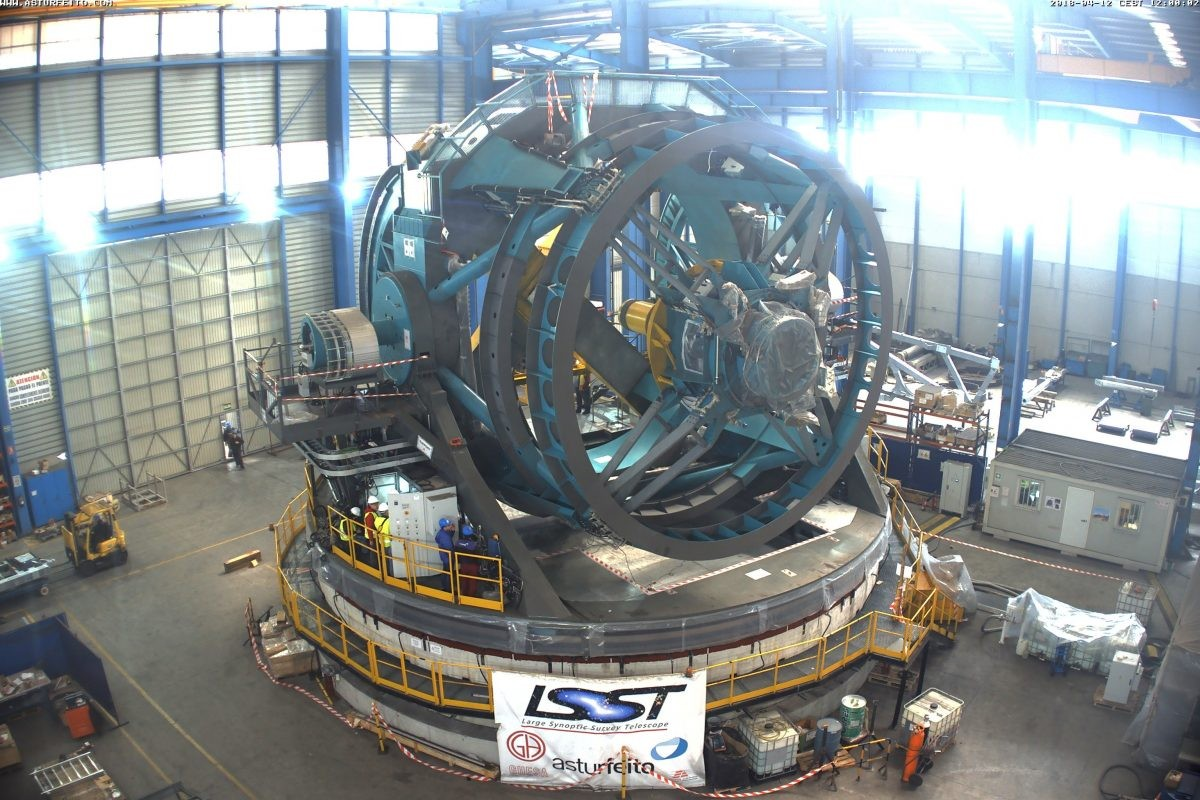 The LSST under construction. Could this new telescope solve some of the biggest mysteries of the Universe? Credit: LSST Project/NSF/AURA