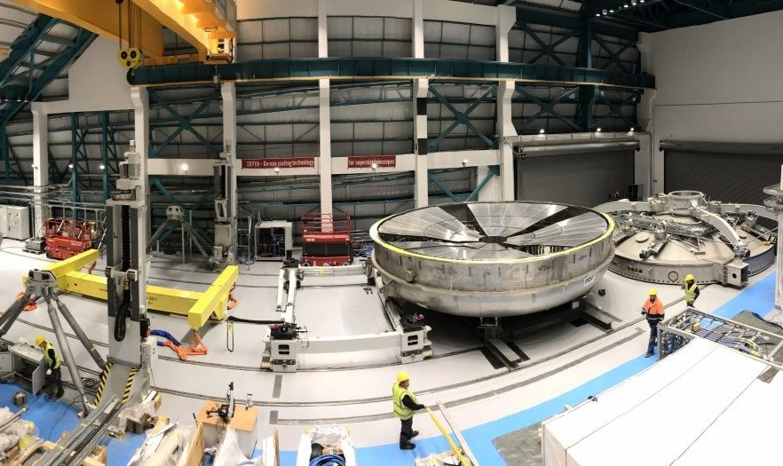 The Coating Plant will be used to coat the LSST's primary/tertiary mirror (M1M3) with aluminum, and the secondary mirror (M2) with silver. Credit: LSST Project/NSF/AURA