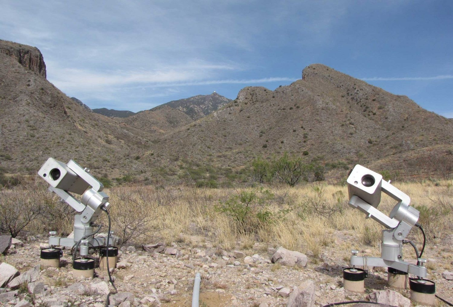 MicroObservatory's scopes at the Fred Lawrence Whipple Observatory in Arizona. Credit: Ben Cecilia